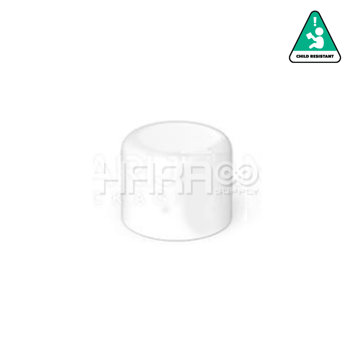 Child Resistant | Smooth Push Down & Turn Dome Caps for Glass Tube | 18mm - White Matte Plastic - 702 Count