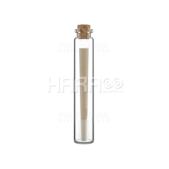 Glass Pre-Roll Tube with Cork Top | 22.25mm - 120mm - 586 Count