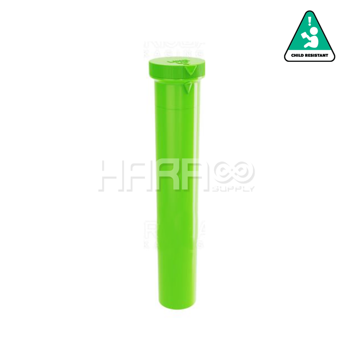 Green Opaque Child Resistant Pre Roll Tube - 94mm - 750 Count