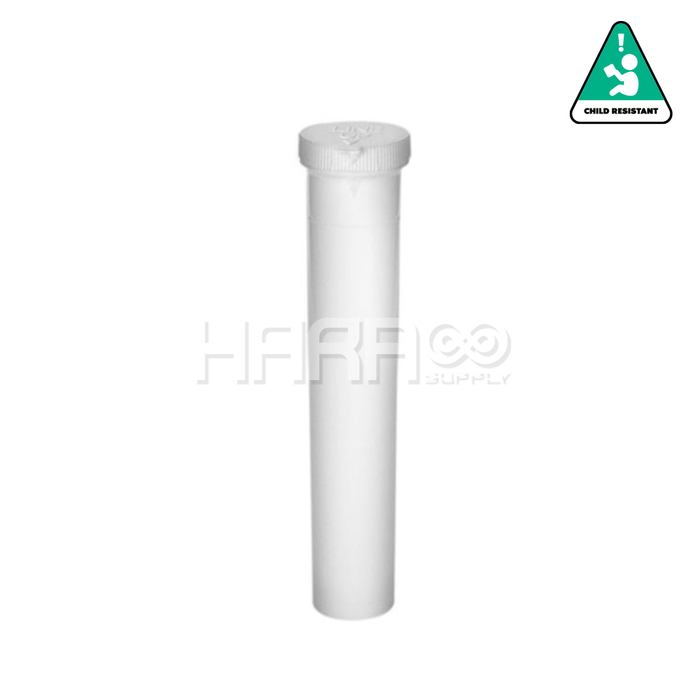 White Opaque Child Resistant Pre Roll Tube - 94mm - 750 Count