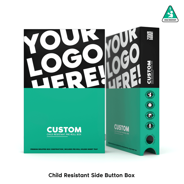 Child Resistant Side Button Push Box