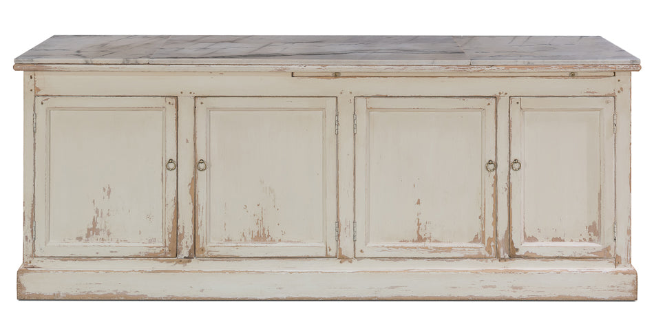 White Marble Top Sideboard