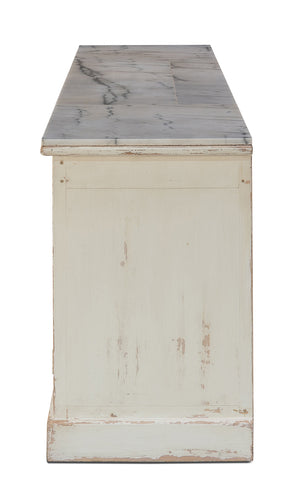 White Marble Top Sideboard Side