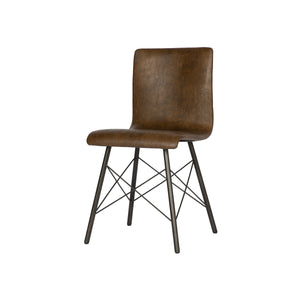 Leather and Metal Side Chair