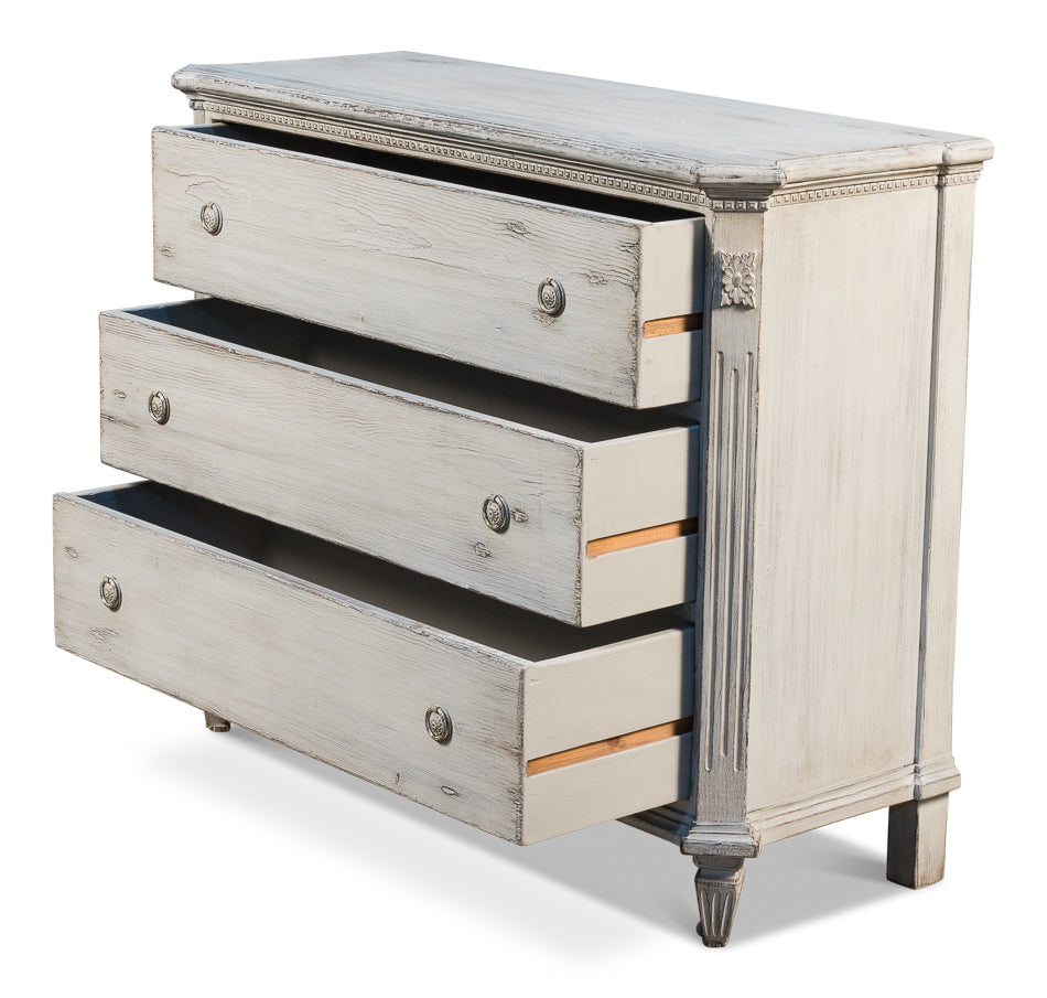 Stone Grey Chest of Drawers with Open Drawers