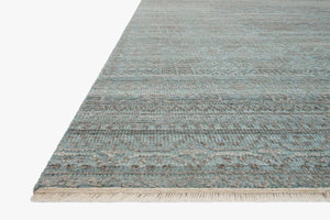Soft Green and Blue Textured Rug