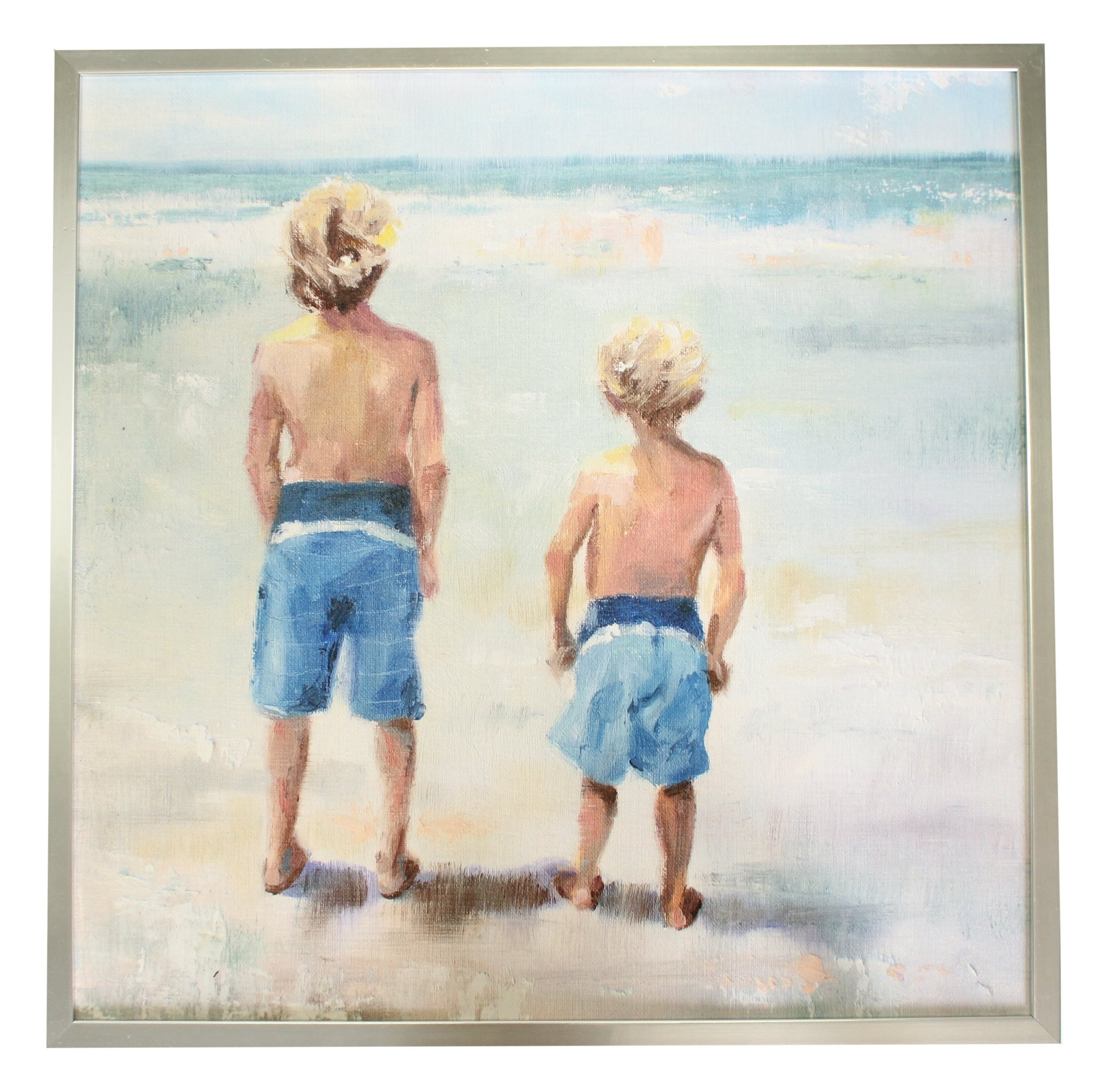 Brothers at the Ocean (exclusive) in Silver Frame