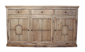 Coto Cabinet in French Oak Finish with Solid Brass Knobs