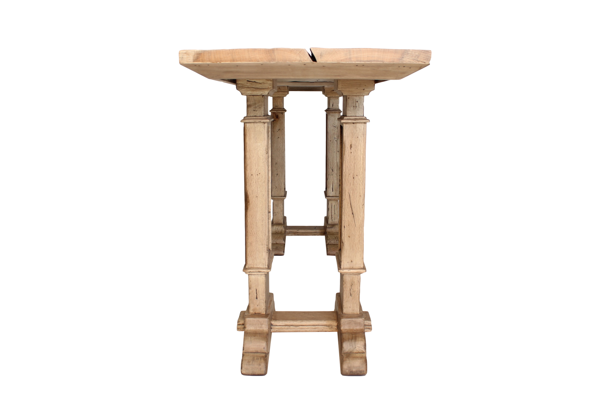 Side View of Sorrento Console in French Oak Finish