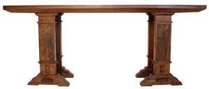 Sorrento Console in Napa Finish with Laurel Leaf Detail on Legs