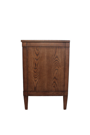 Single Drawer Nightstand in Contracting Brown Finish Side