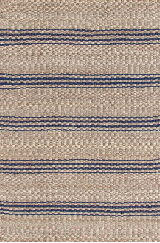 Navy Striped Jute Rug