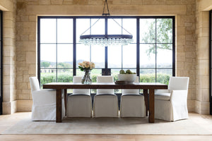 Modern Farmhouse Solid Oak Table Styled in Home