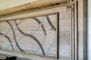 Geometric Design Detail Shown on Solid Oak Ryan Headboard