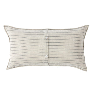 Oatmeal Linen with Charcoal Stripe Sham