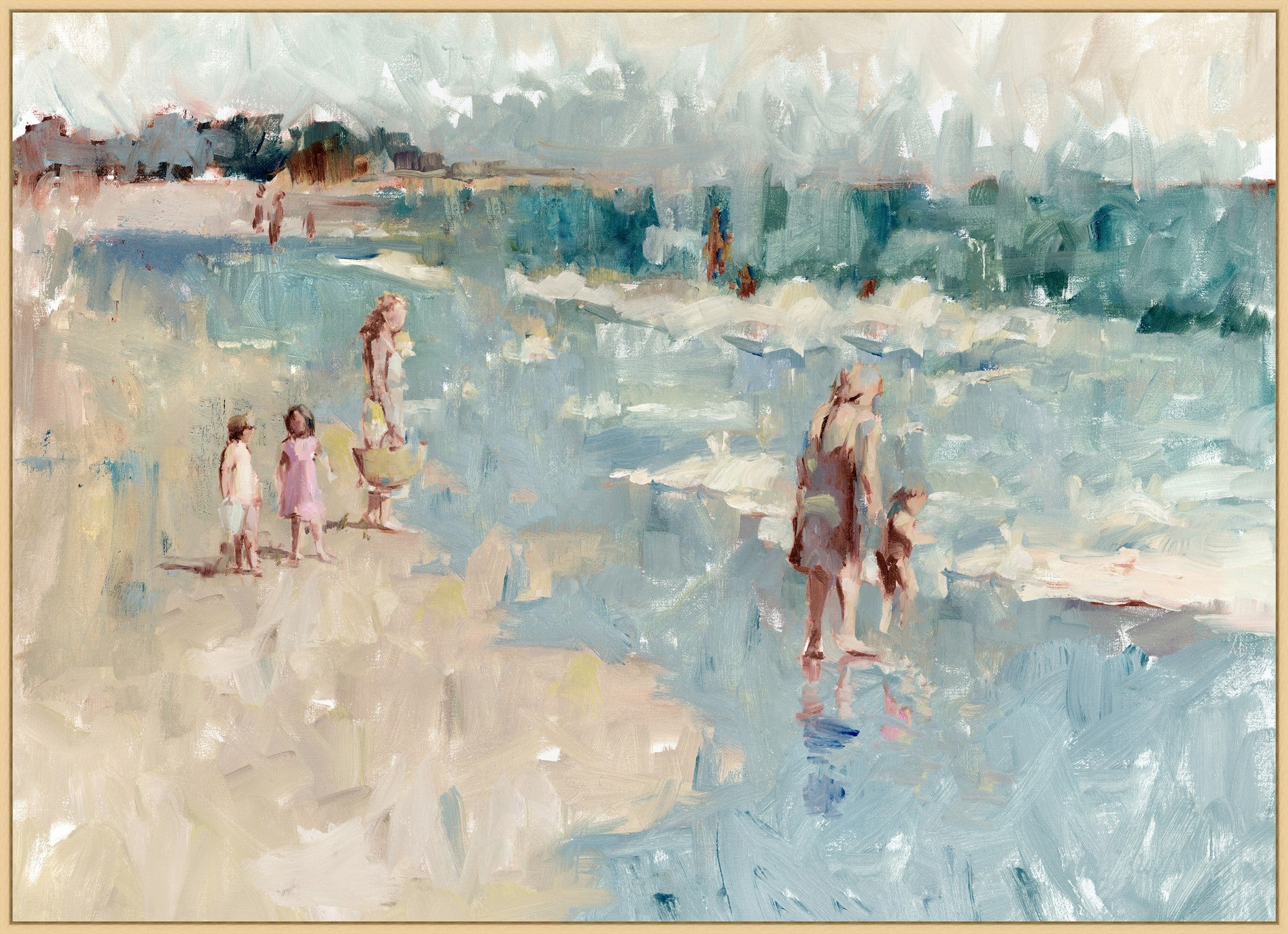 "Beach Day Artwork 51"" x 37"""