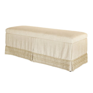 Couture Bed Bench with High, Open Weave Banding