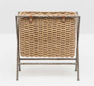 Natural Woven Seagrass Magazine Rack