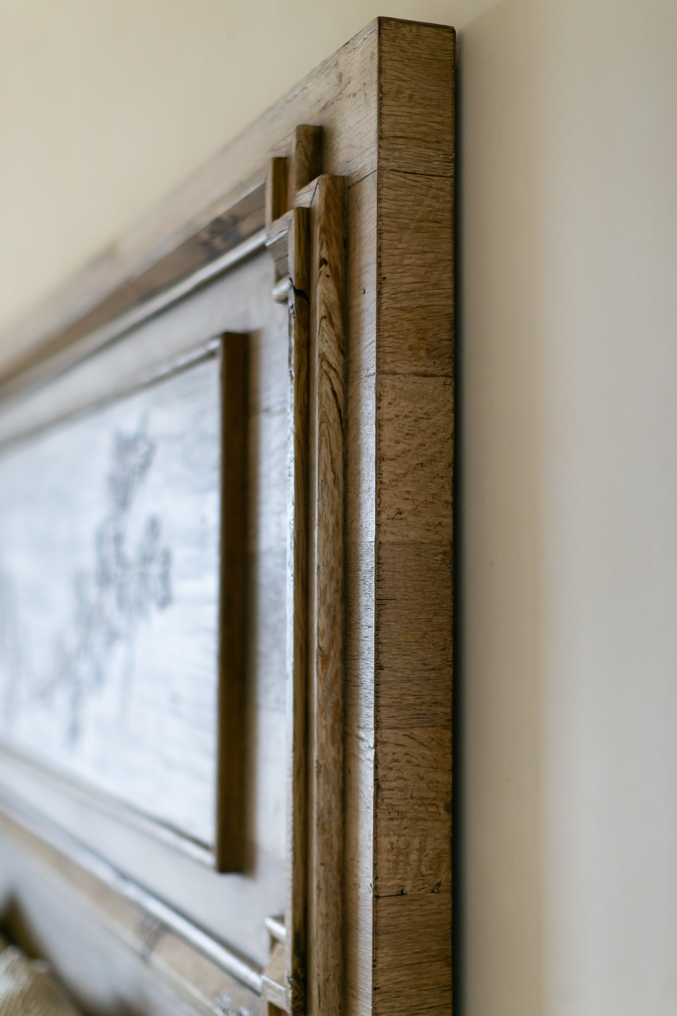 Detail on Solid Oak Headboard