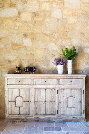 Coto Cabinet in French Oak Styled in Home with Accessories