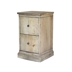 Sloane Nightstand Corner Shot in French Oak Finish with Solid Brass Knobs