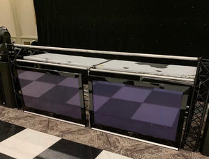 Professional truss dj booth plus 50' visual screens