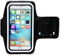 iPhone 6 6S PLUS Armband - Running & Exercise Sportband (5.5inch) with Key Holder & Reflective Band (Black)