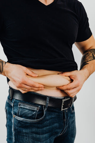 Men with belly fat