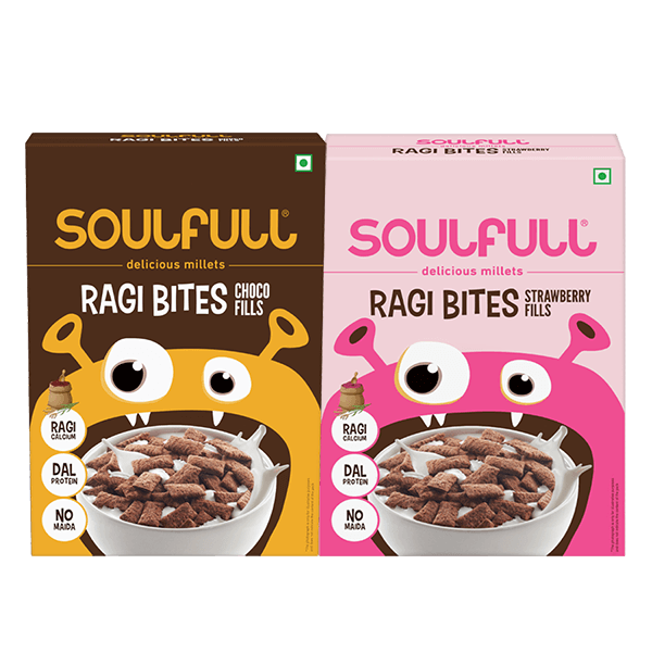 Ragi Bites Choco Fills + Strawberry Fills Combo