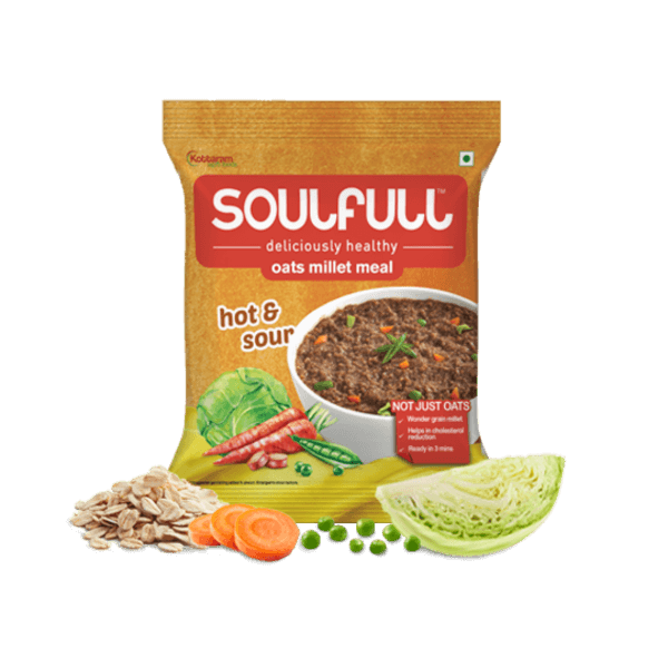 Oat Millet Meal - Hot & Sour (Pack of 12) | 420g