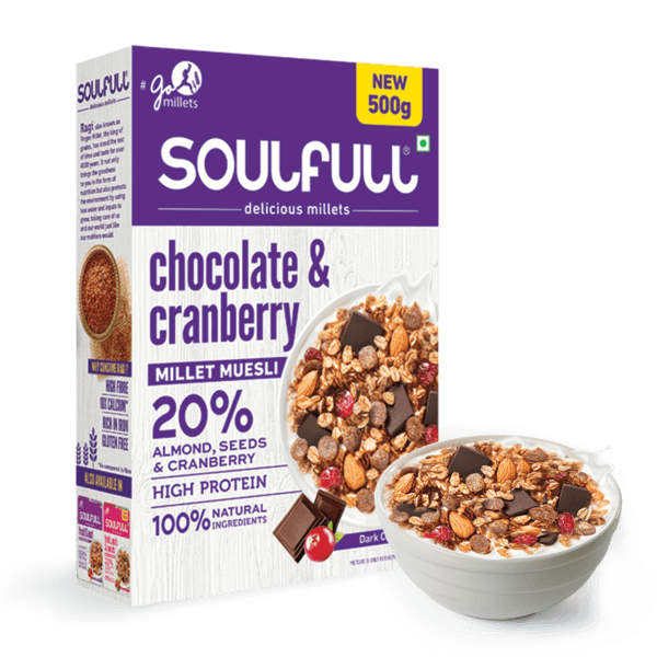 Chocolate & Cranberry Millet Muesli - 500g