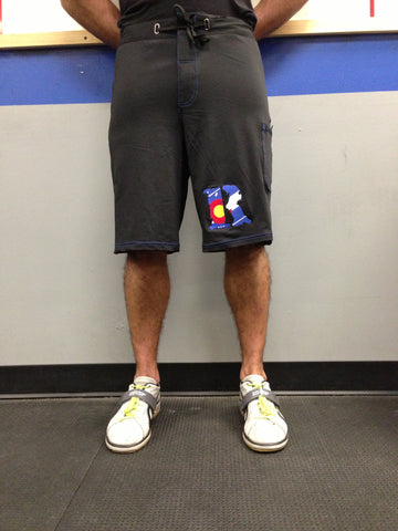 Black Renegade Fight Shorts (Blue Accent)