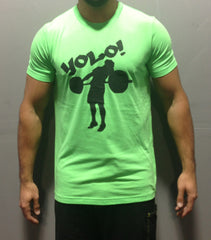 Men's Neon Green YOLO Tee