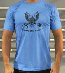 Men's Heather Blue In WOD We Trust Tee
