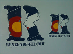 Large Renegade Fitness Sticker