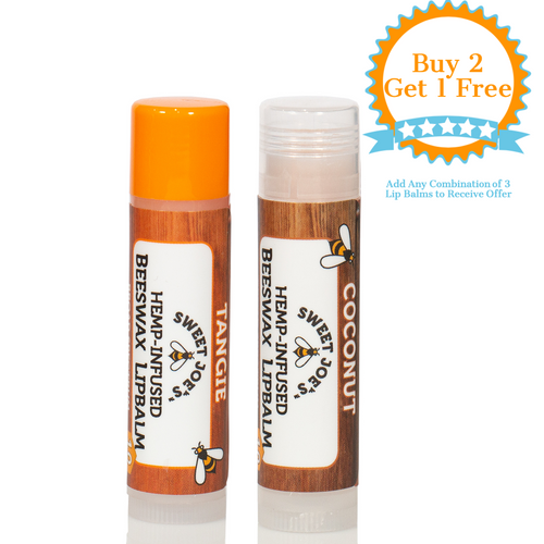 Coconut & Tangie Beeswax Lip Balm Pair
