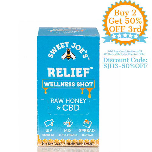 Relief CBD Honey Wellness Shots Box