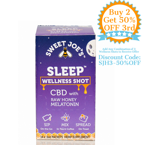 Sleep CBD Honey Wellness Shots Box