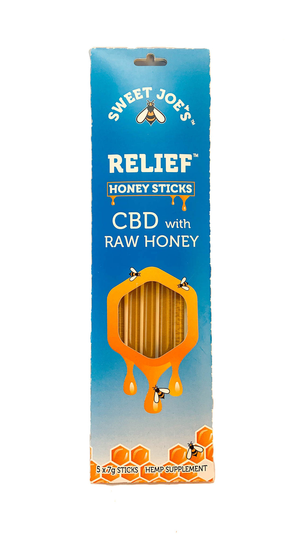 Raw CBD Hemp Honey Sticks (5 Pack)