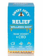 Load image into Gallery viewer, hemp honey wellness shots for relief
