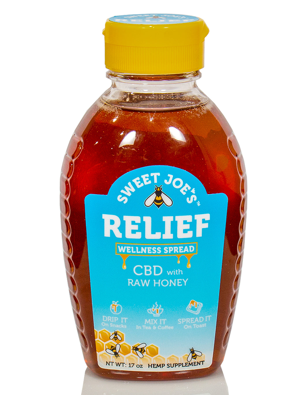 Relief CBD Honey Squeeze Bottle