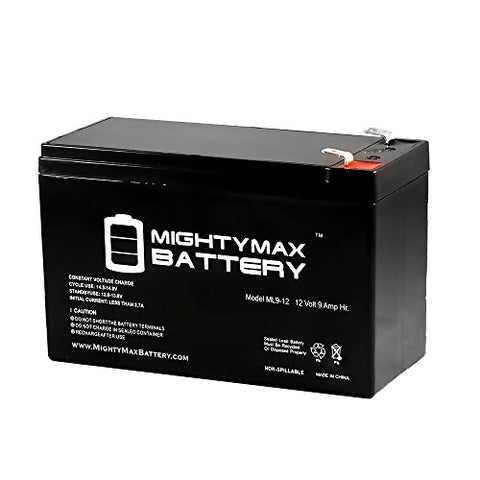 12V 9Ah Ps-1265 Djw12-8 Rechargeable Sealed Lead Acid Battery - Mighty Max Battery Brand Product