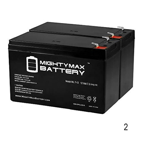 12V 7.2Ah Compatible Battery For Apc Back-Ups Es 550Va - - Mighty Max Battery Brand Product