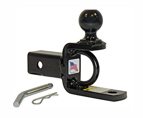 Atv/Utv Ball Mount For 2 Inch Receivers With 2 Inch Hitch Ball - Made In U.S.A.