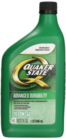 Quaker State (550034964-6Pk) Advanced Durability Sae 10W-40 Motor Oil - 1 Quart