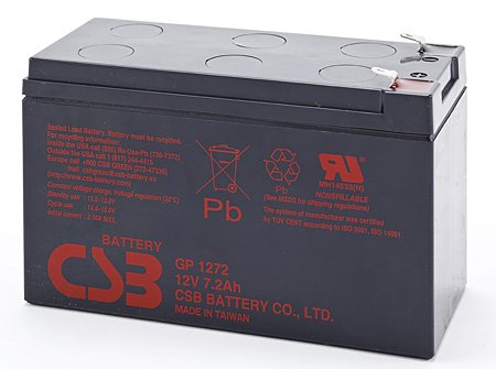 12V 7.2Ah Sealed Lead Acid Battery