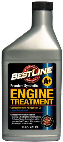 Bestline 853796001049 Premium Synthetic Engine Treatment For Gasoline Engines - 16 Oz.
