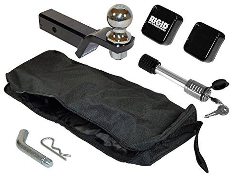Rigid Class Iii 2  Ball Mount Kit Loaded With 2  Ball, Hitch Lock And Storage Bag - 3/4  Rise