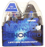 Eurodezigns 893 Monster Blue Fog Lights - 10,000K Xenon-Krypton Hid Halogen Replacement Bulbs - (Pair)
