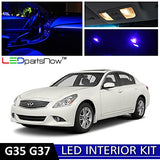 Ledpartsnow Infiniti G35 G37 Sedan 2007-2014 Blue Premium Led Interior Lights Package Kit (12 Pieces)